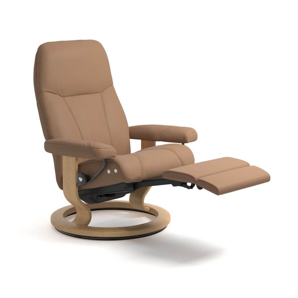 stressless reaxsessel consul legcomfort batick latte natur 10057150930401 house of comfort. Black Bedroom Furniture Sets. Home Design Ideas
