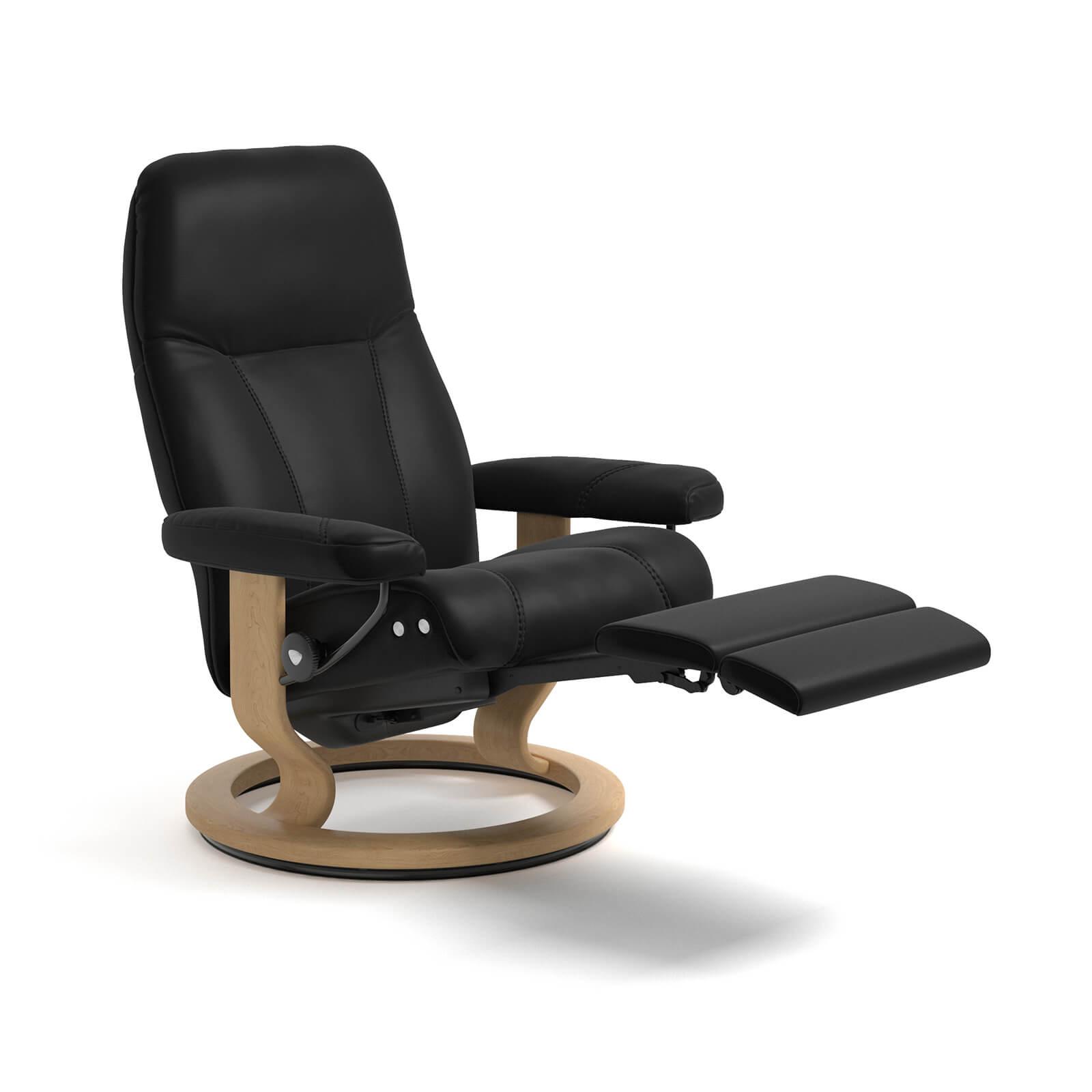 stressless reaxsessel consul legcomfort batick schwarz. Black Bedroom Furniture Sets. Home Design Ideas