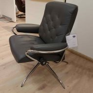 Sessel METRO Low Back Leder Paloma rock Starbase Gestell chrom Ausstellung Stressless