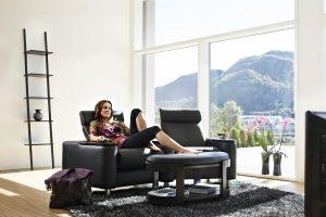 Bequemes Stressless Sofa mit Funktionen für höchsten Sitzkomfort