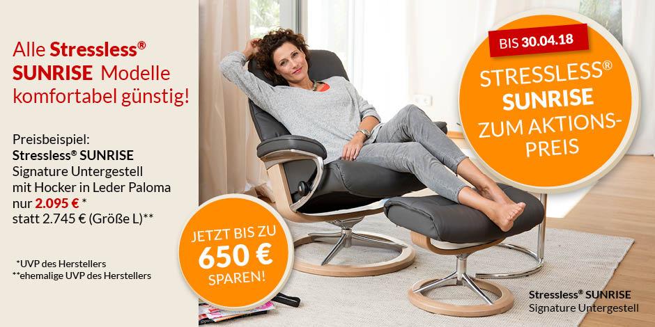 Stressless Sunrise Aktion alle Modelle zum Aktionspreis Home Banner Stressless verlängert