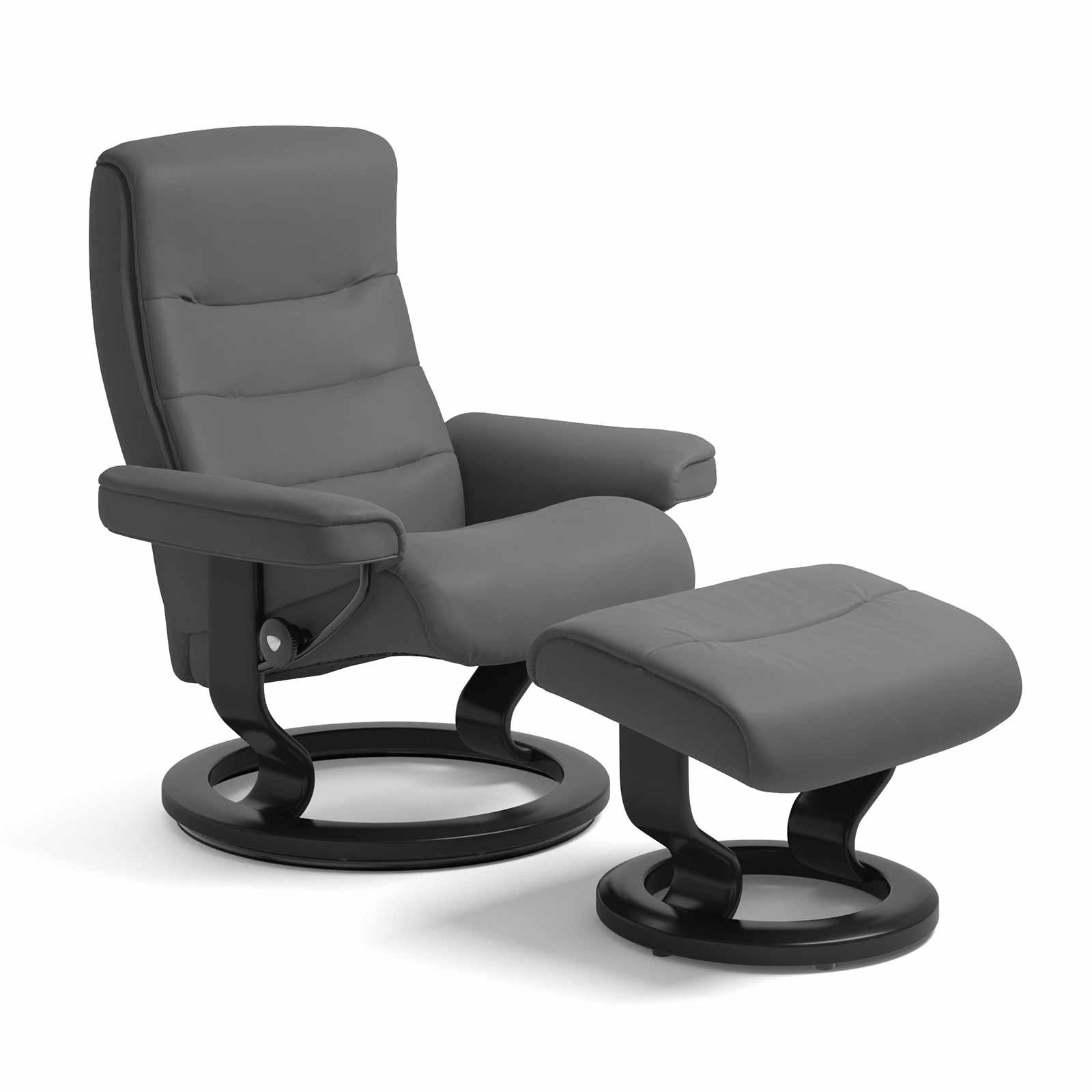 stressless sessel nordic batick grau mit hocker stressless. Black Bedroom Furniture Sets. Home Design Ideas