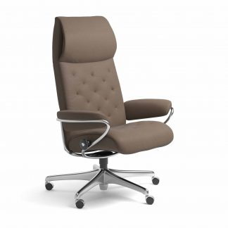 Sessel METRO High Back Home Office Leder Batick mole Starbase Metallgestell mit Rollen Stressless