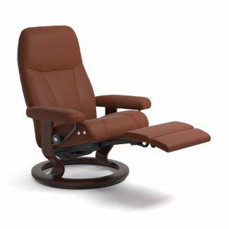 Sessel CONSUL Classic Legcomfort Leder Paloma copper Gestell braun Stressless