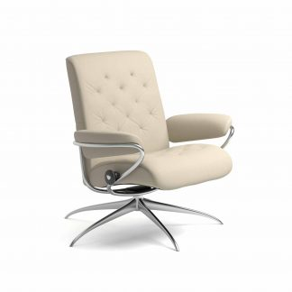Sessel METRO Low Back Leder Batick cream Starbase Gestell metall Stressless