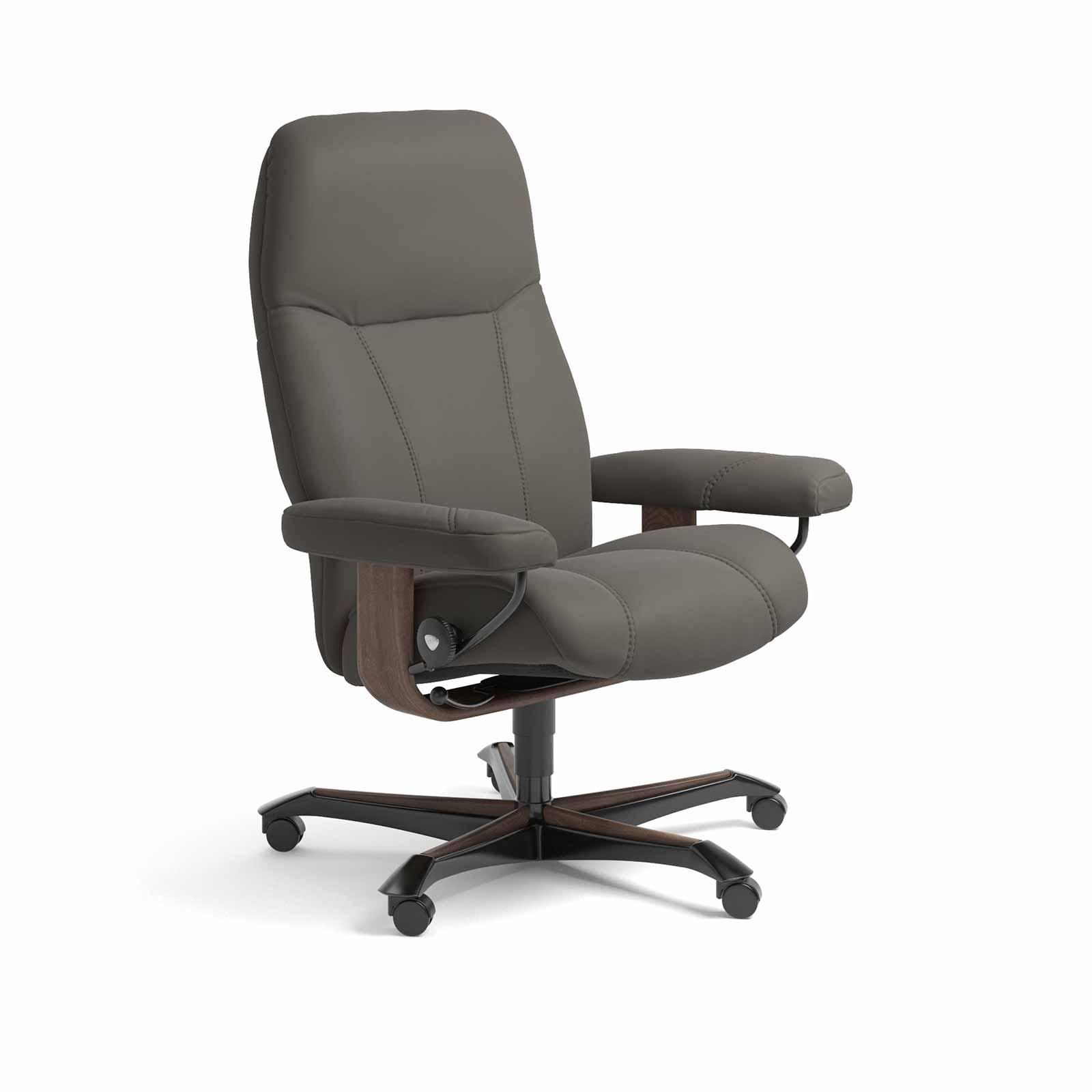 stressless sessel consul home office paloma metal grey b ro. Black Bedroom Furniture Sets. Home Design Ideas