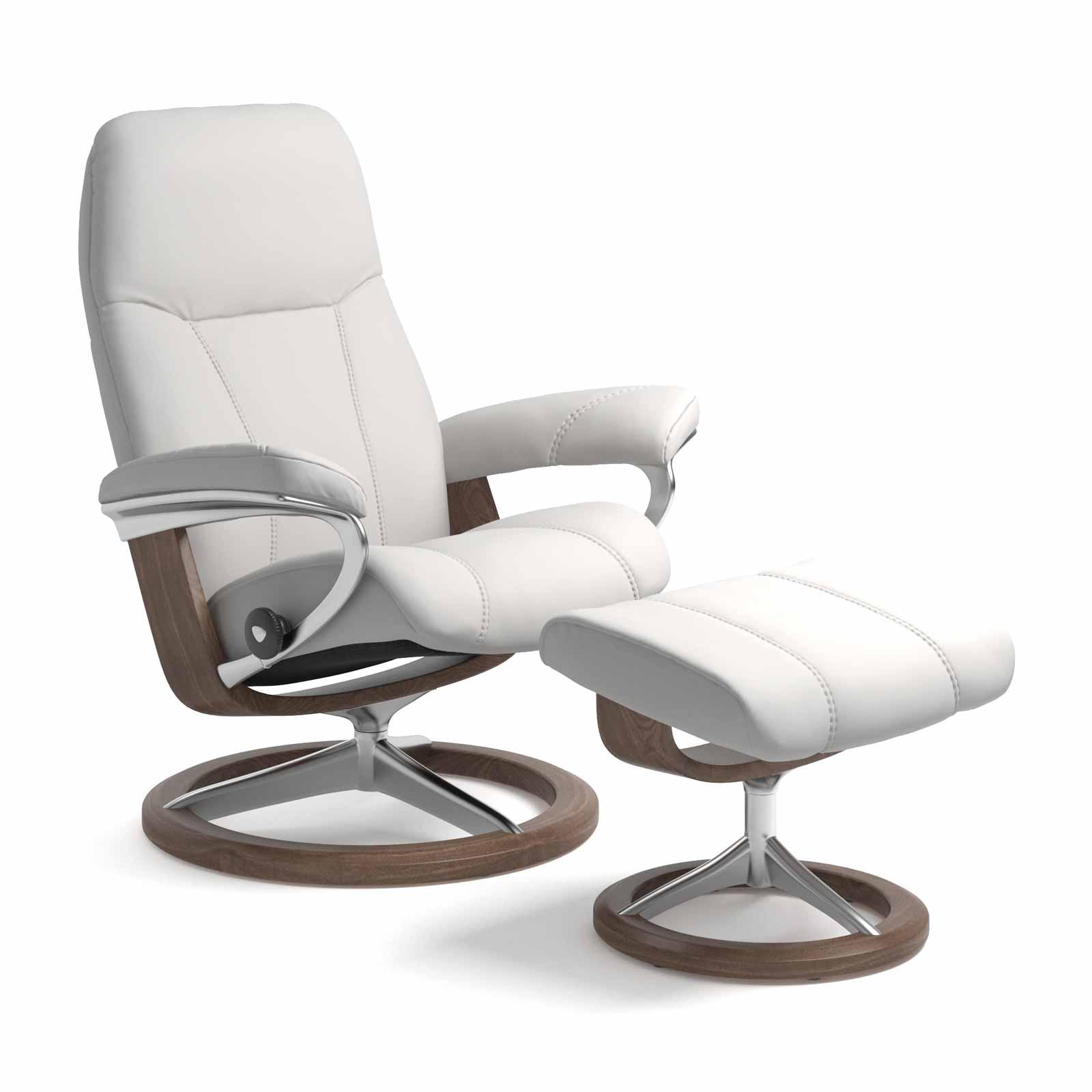 stressless sessel consul signature batick snow mit hocker. Black Bedroom Furniture Sets. Home Design Ideas