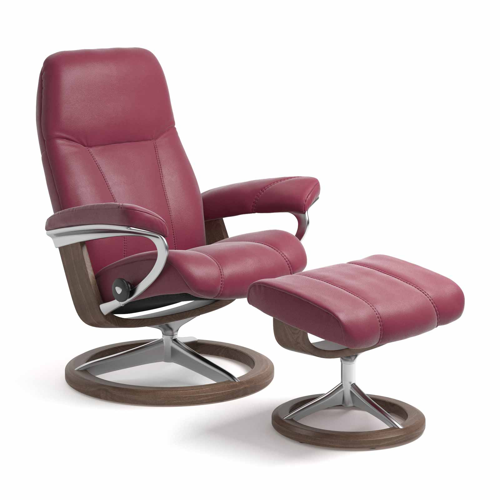 Stressless Sessel Consul Signature Paloma Beet Red Mit Hocker