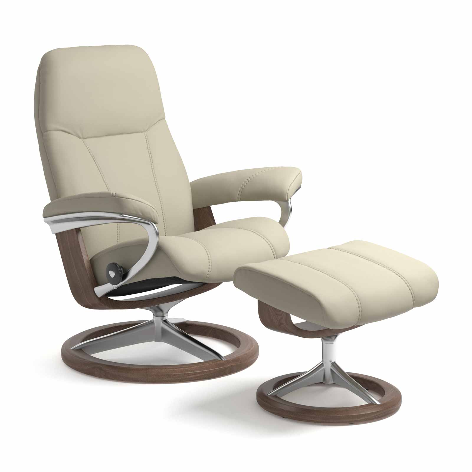 Stressless Sessel Consul Signature Paloma Light Grey Mit Hocker