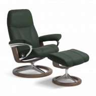 Sessel CONSUL Signature mit Hocker Leder Paloma new forest Gestell walnuss Stressless
