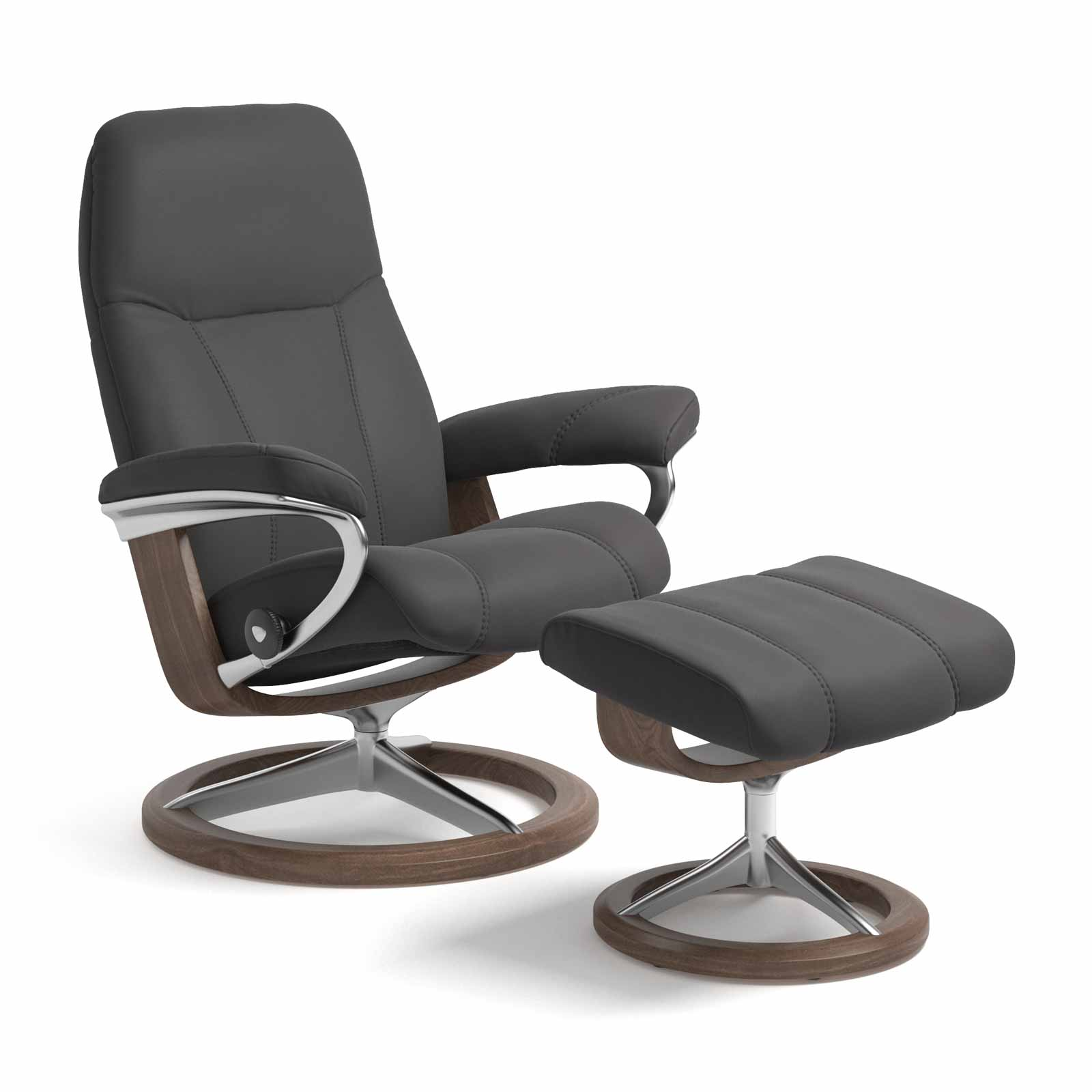 Stressless Sessel CONSUL Signature Paloma rock mit Hocker