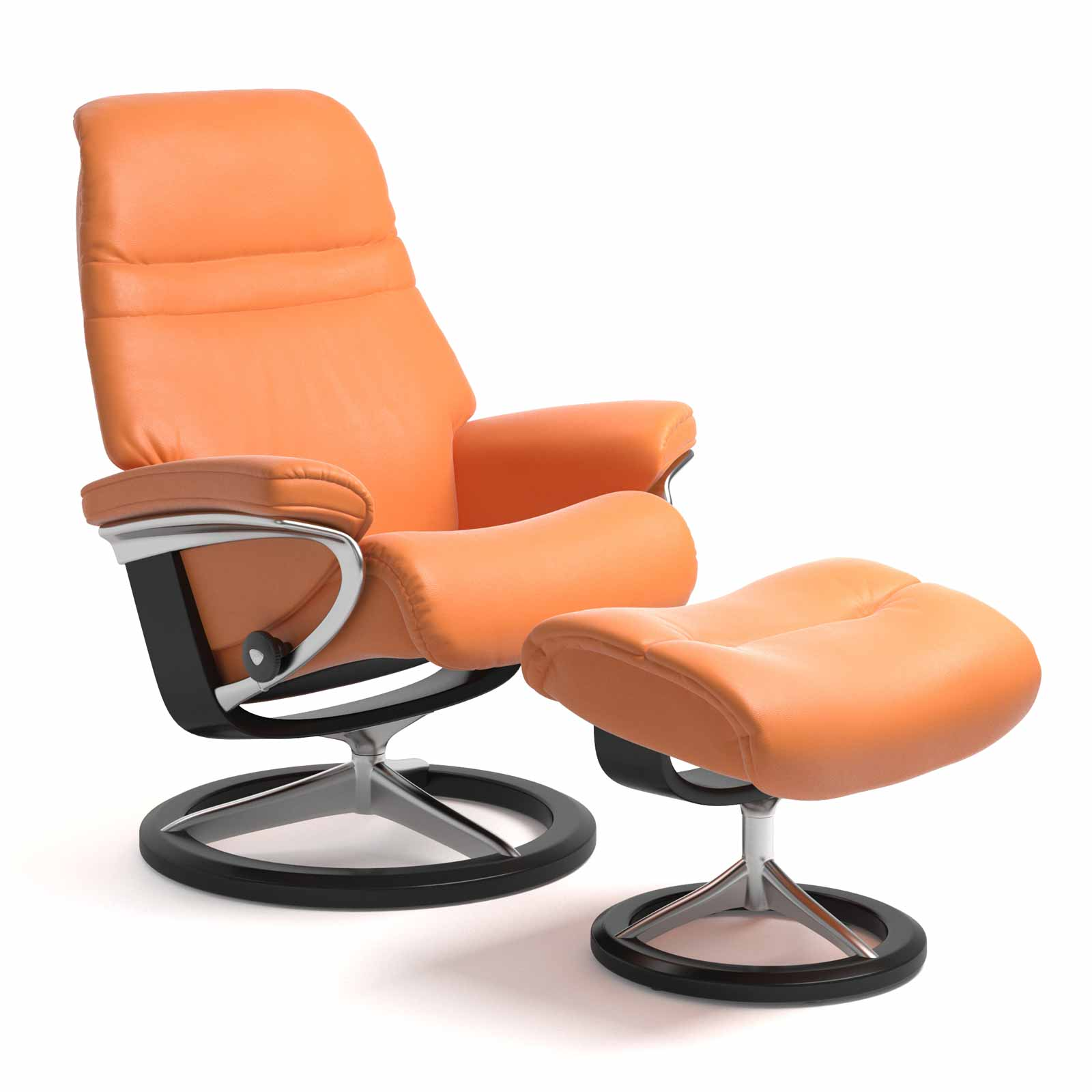 Stressless Sessel Sunrise Signature Paloma Apricot Orange Mit Hocker