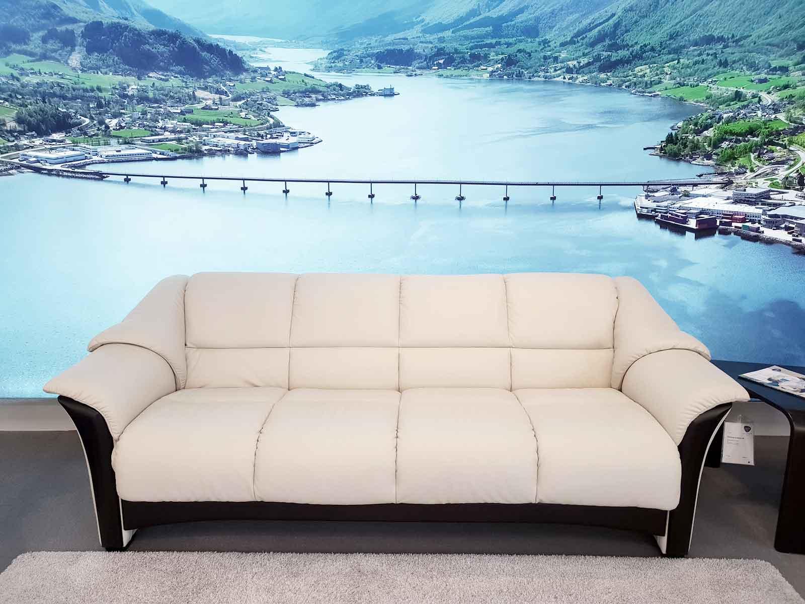 Ausstellungsstück Ekornes Sofa Oslo 3 4 Sitzer Leder Paloma