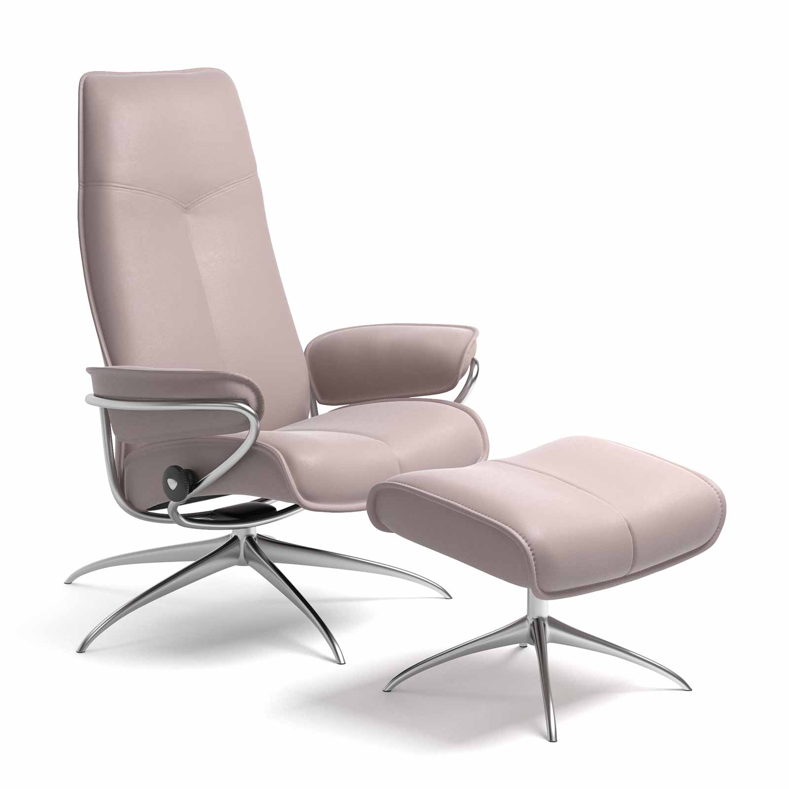 Stressless City High Back Leder Batick Smoke Rose Mit Hocker