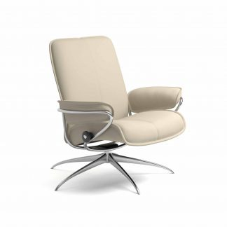 Sessel CITY Low Back Leder Batick cream Starbase Gestell metall Stressless