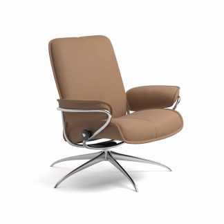 Sessel CITY Low Back Leder Batick latte Starbase Gestell metall Stressless