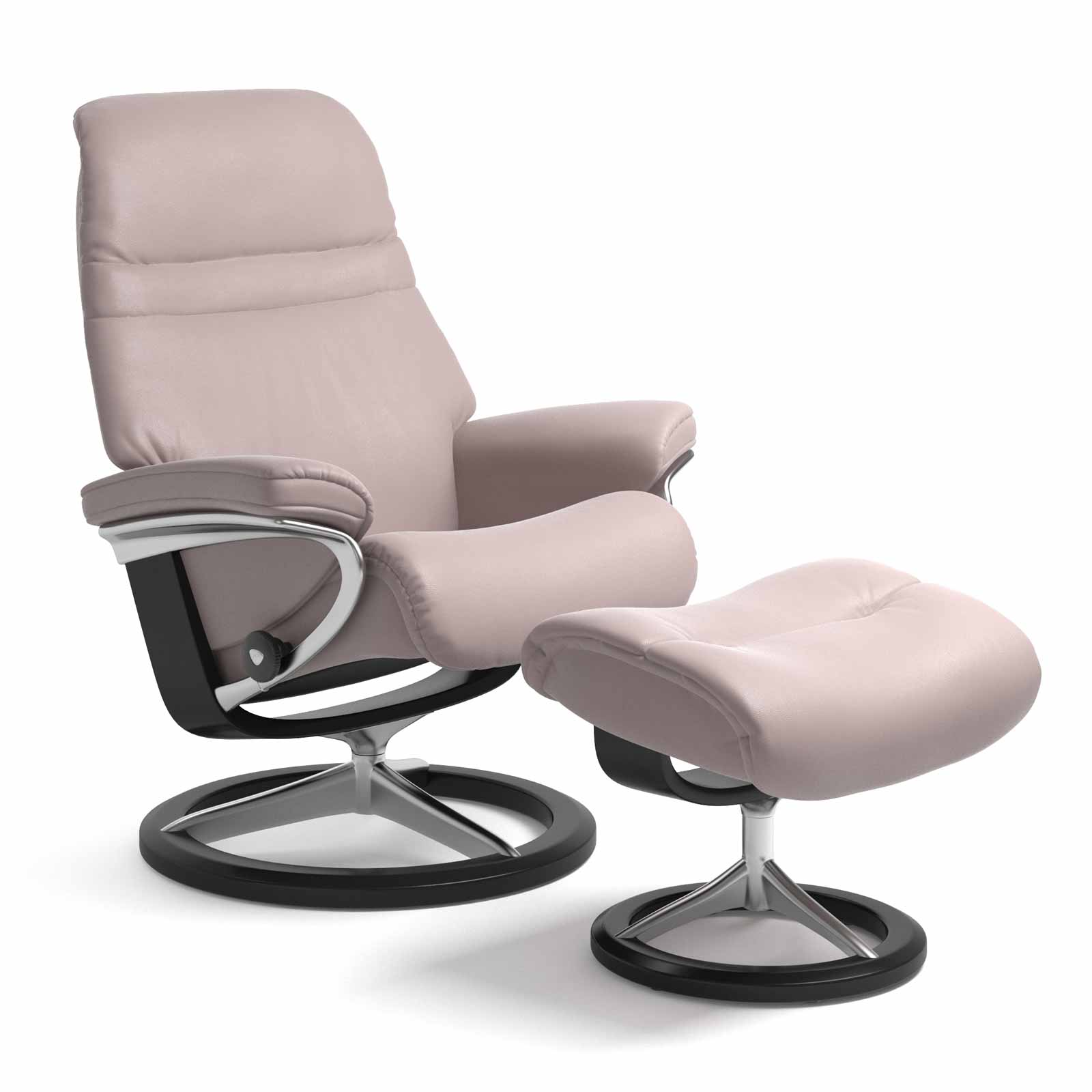 Stressless Sessel Sunrise Signature Batick Smoke Rose Mit Hocker