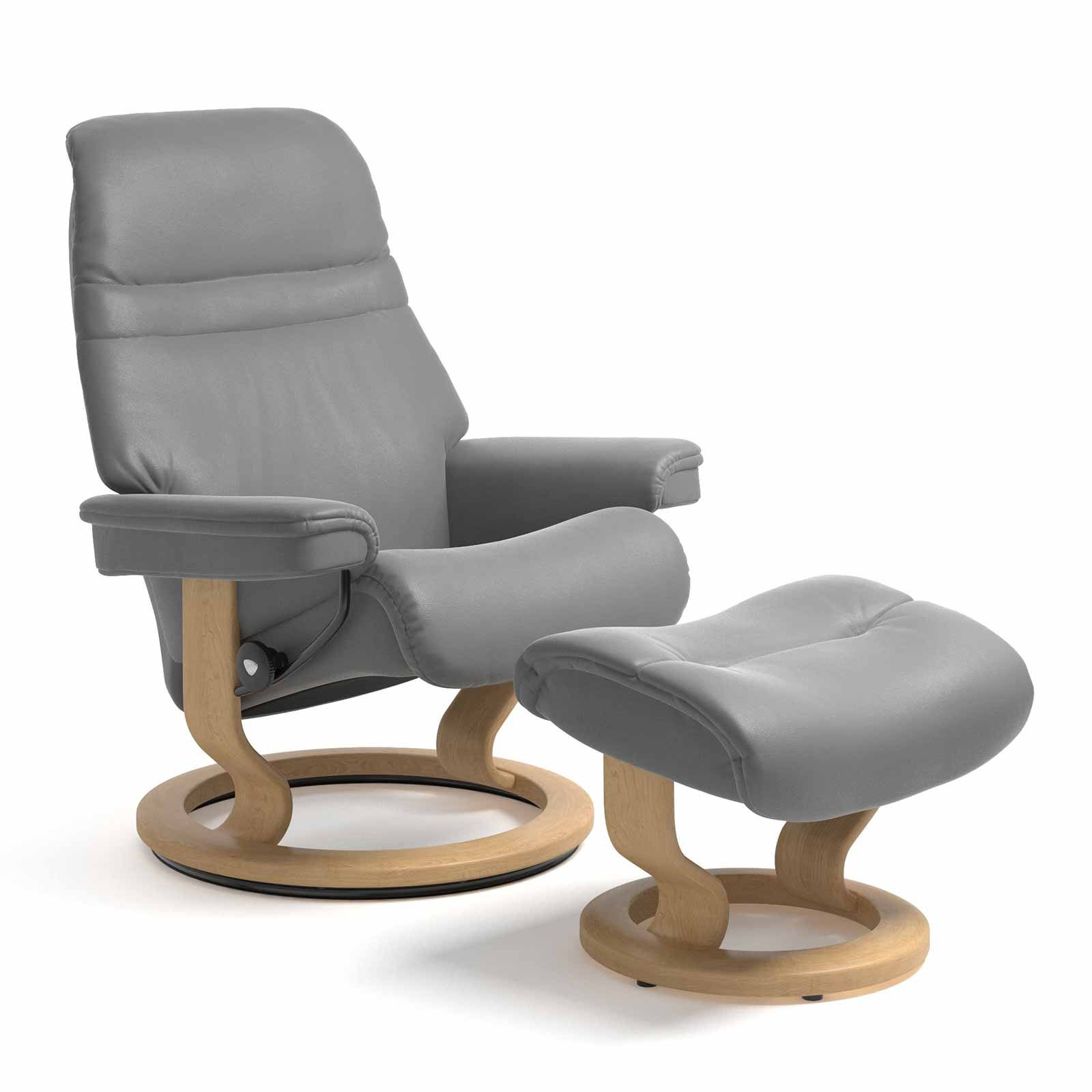 Stressless Sessel Sunrise Classic Leder Batick Wild Dove Mit Hocker