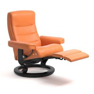 Sessel NORDIC Classic Legcomfort Leder Paloma apricot orange Gestell schwarz Stressless