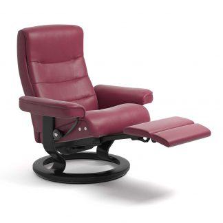 Sessel NORDIC Classic Legcomfort Leder Paloma beet red Gestell schwarz Stressless