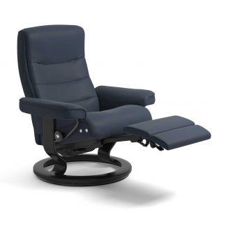 Sessel NORDIC Classic Legcomfort Leder Paloma oxford blue Gestell schwarz Stressless