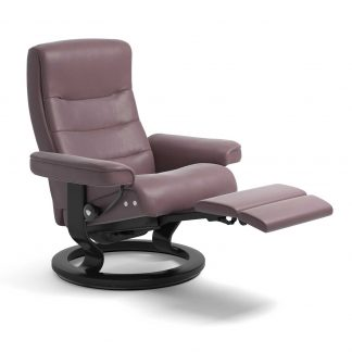 Sessel NORDIC Classic Legcomfort Leder Paloma purple plum Gestell schwarz Stressless