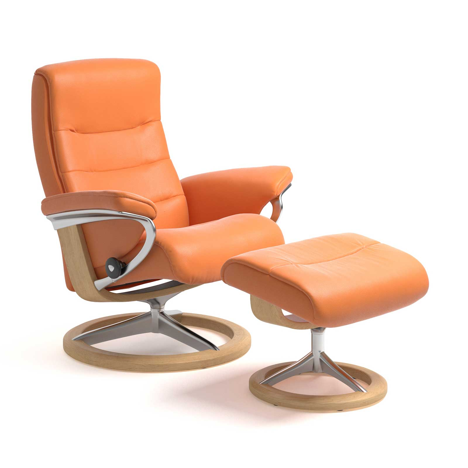 Stressless Sessel Nordic Signature Paloma Apricot Orange Mit Hocker
