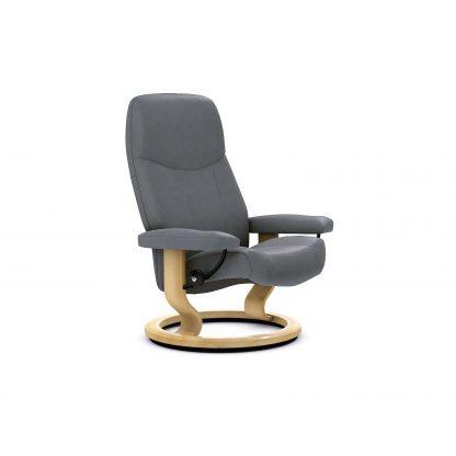 Neues Bild Sessel CONSUL Classic ohne Hocker Leder Batick wild dove Gestell natur Stressless