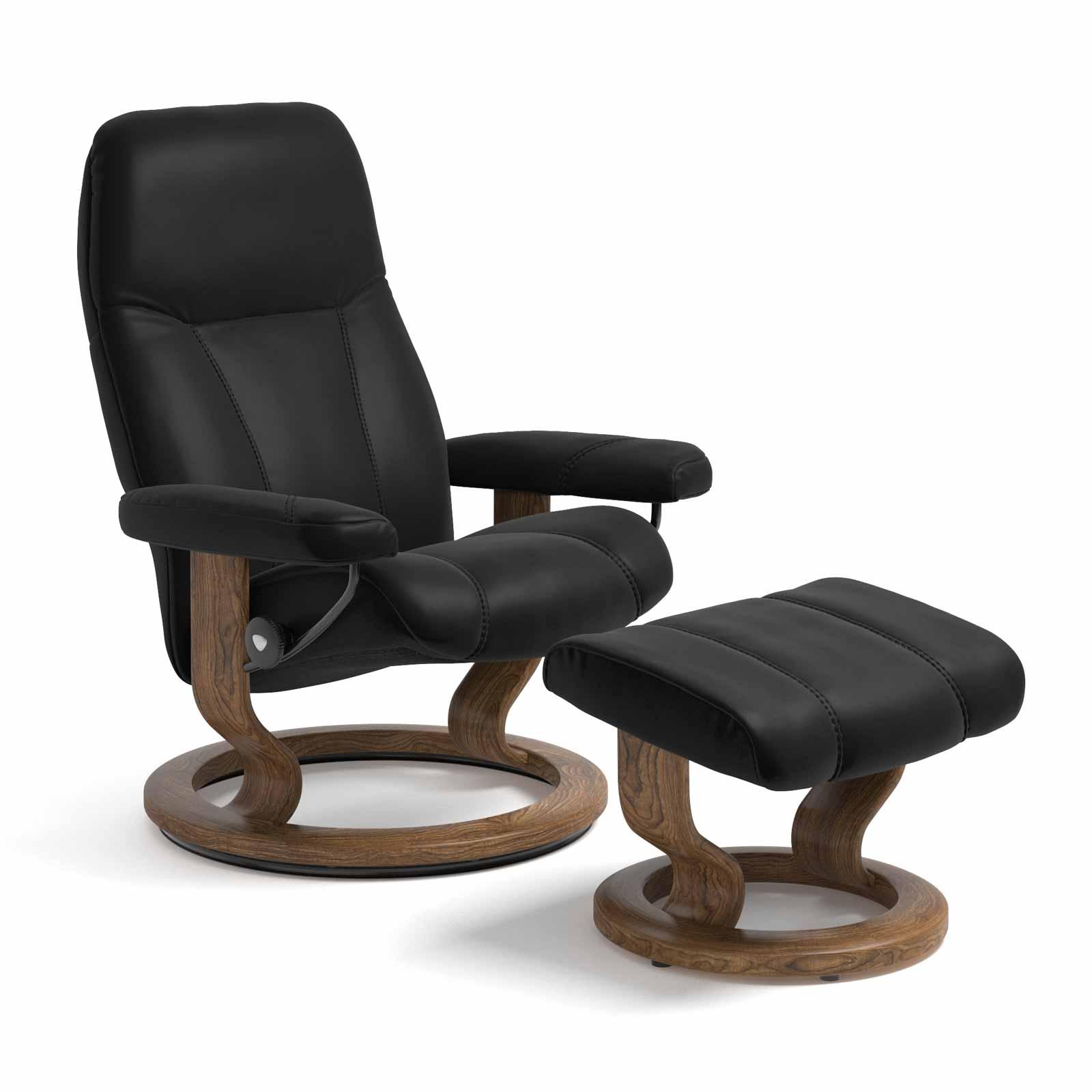 Stressless Sessel CONSUL Batick schwarz Hocker
