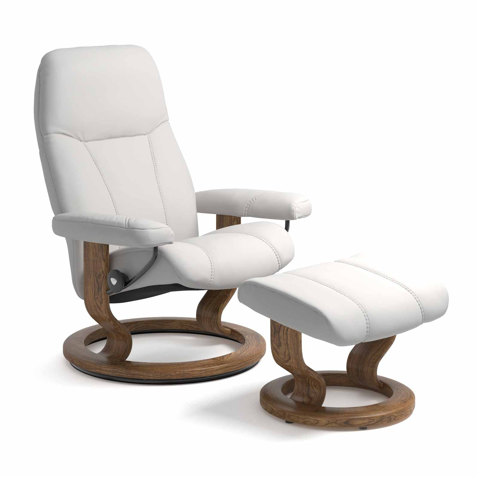 stressless consul classic batick snow mit hocker stressless. Black Bedroom Furniture Sets. Home Design Ideas