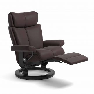 Sessel MAGIC Classic Legcomfort Leder Paloma chocolate Gestell schwarz Stressless