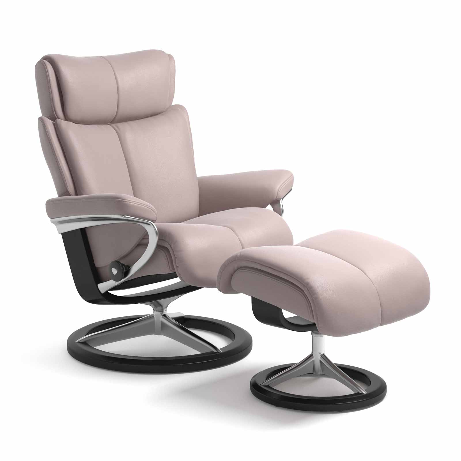 Stressless Sessel Magic Signature Batick Smoke Rose Mit Hocker