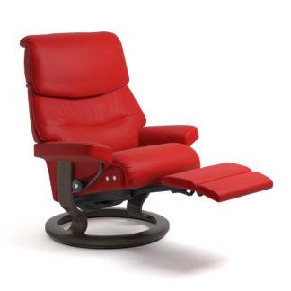 Sessel CAPRI Classic Legcomfort Leder Batick chilli red Gestell wenge Stressless
