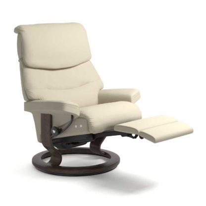 Sessel CAPRI Classic Legcomfort Leder Batick cream Gestell wenge Stressless