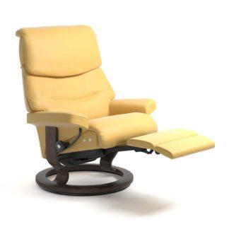 Sessel CAPRI Classic Legcomfort Leder Batick mimosa Gestell wenge Stressless