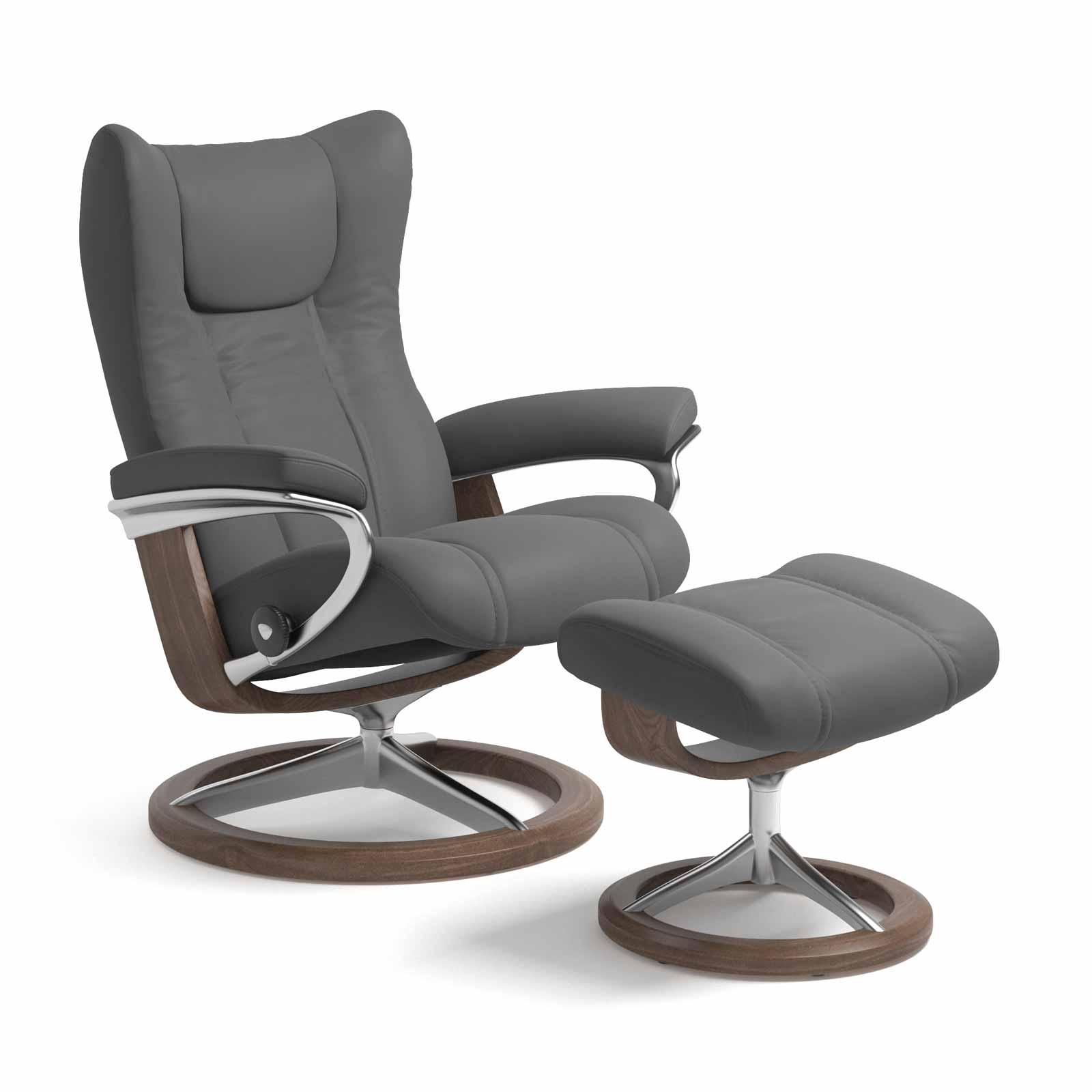 stressless sessel wing signature batick grau mit hocker. Black Bedroom Furniture Sets. Home Design Ideas