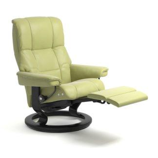 Sessel MAYFAIR Classic Legcomfort Leder Paloma amber green Gestell schwarz Stressless