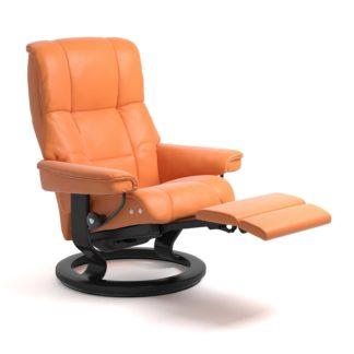 Sessel MAYFAIR Classic Legcomfort Leder Paloma apricot orange Gestell schwarz Stressless