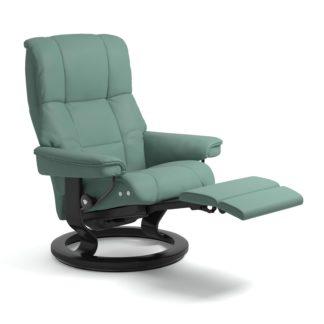 Sessel MAYFAIR Classic Legcomfort Leder Paloma aqua green Gestell schwarz Stressless