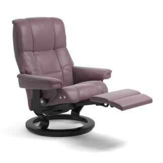 Sessel MAYFAIR Classic Legcomfort Leder Paloma purple plum Gestell schwarz Stressless
