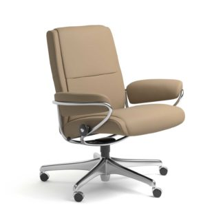 Sessel PARIS Low Back Home Office Leder Paloma funghi Starbase Stahlgestell mit Rollen Stressless