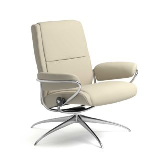 Sessel PARIS Low Back Leder Batick cream Starbase Gestell chrom Stressless