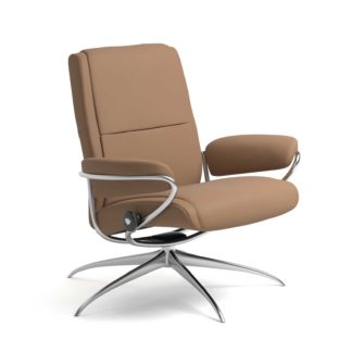 Sessel PARIS Low Back Leder Batick latte Starbase Gestell chrom Stressless