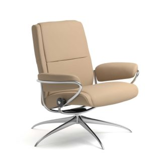 Sessel PARIS Low Back Leder Paloma beige Starbase Gestell chrom Stressless