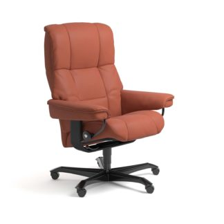 Sessel MAYFAIR Home Office Leder Paloma henna Gestell schwarz mit Rollen Stressless
