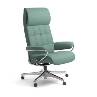 Sessel LONDON High Back Home Office Leder Paloma aqua green Starbase Stahlgestell mit Rollen Stressless