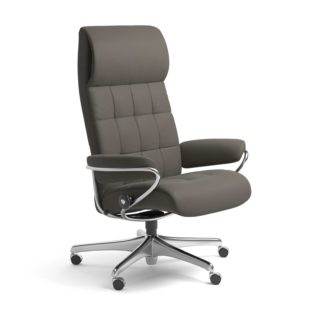 Sessel LONDON High Back Home Office Leder Paloma metal grey Starbase Stahlgestell mit Rollen Stressless