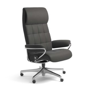 Sessel LONDON High Back Home Office Leder Paloma rock Starbase Stahlgestell mit Rollen Stressless