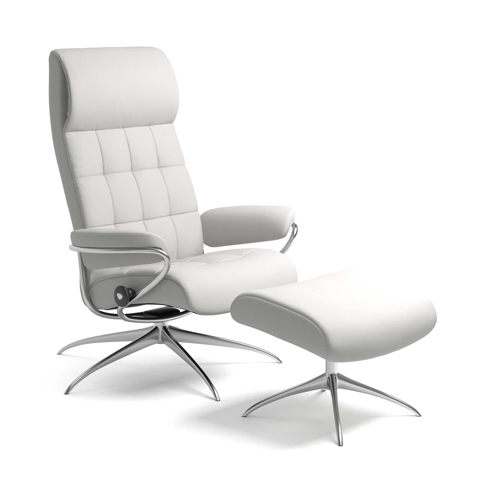 Stressless London Sessel mit hoher Lehne Lederfarbe snow