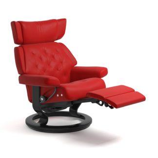 Sessel SKYLINE Classic Legcomfort Leder Batick chilli red Gestell schwarz Stressless